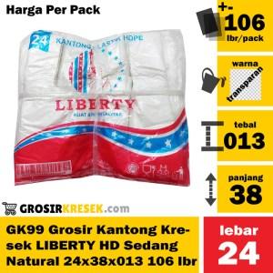GK99 Grosir Kantong Kresek LIBERTY Sedang Natural HD 24x38x013 106 lbr