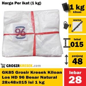 GK85 Grosir Kresek Los Kiloan HD 96 Besar Natural 28x48x015 isi 1 kg