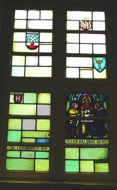 Kirche St. Peter, Groß Borstel,Fenster im Gemeindehaus,Schroeder-Solmitz