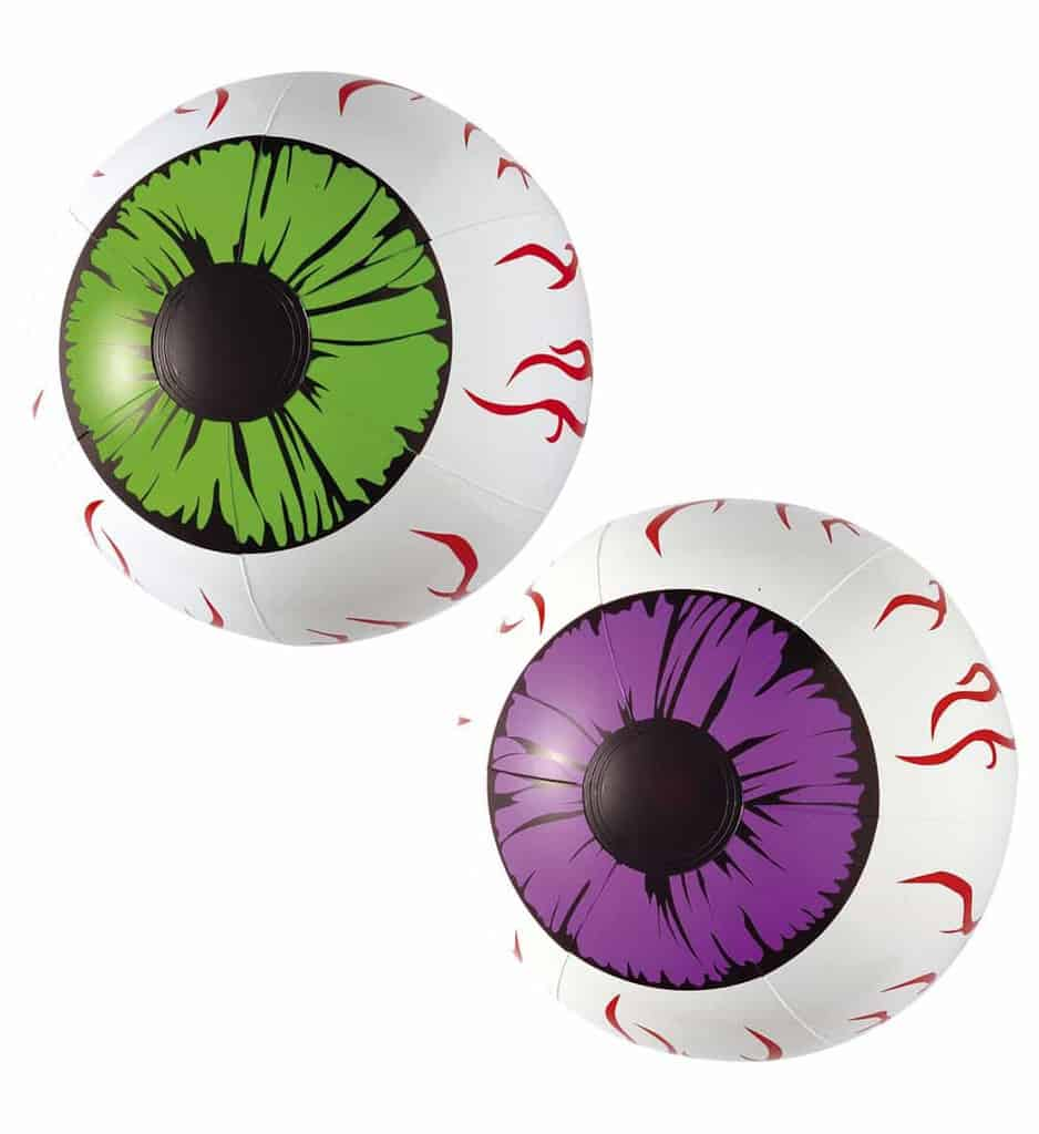 Yeux Globuleux Geants Gonflables Taille 25 Cm Ced