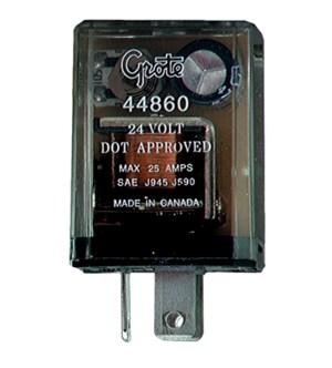 44860  3 Pin Flasher, 12 Light Electromechanical (Pilot), 24V