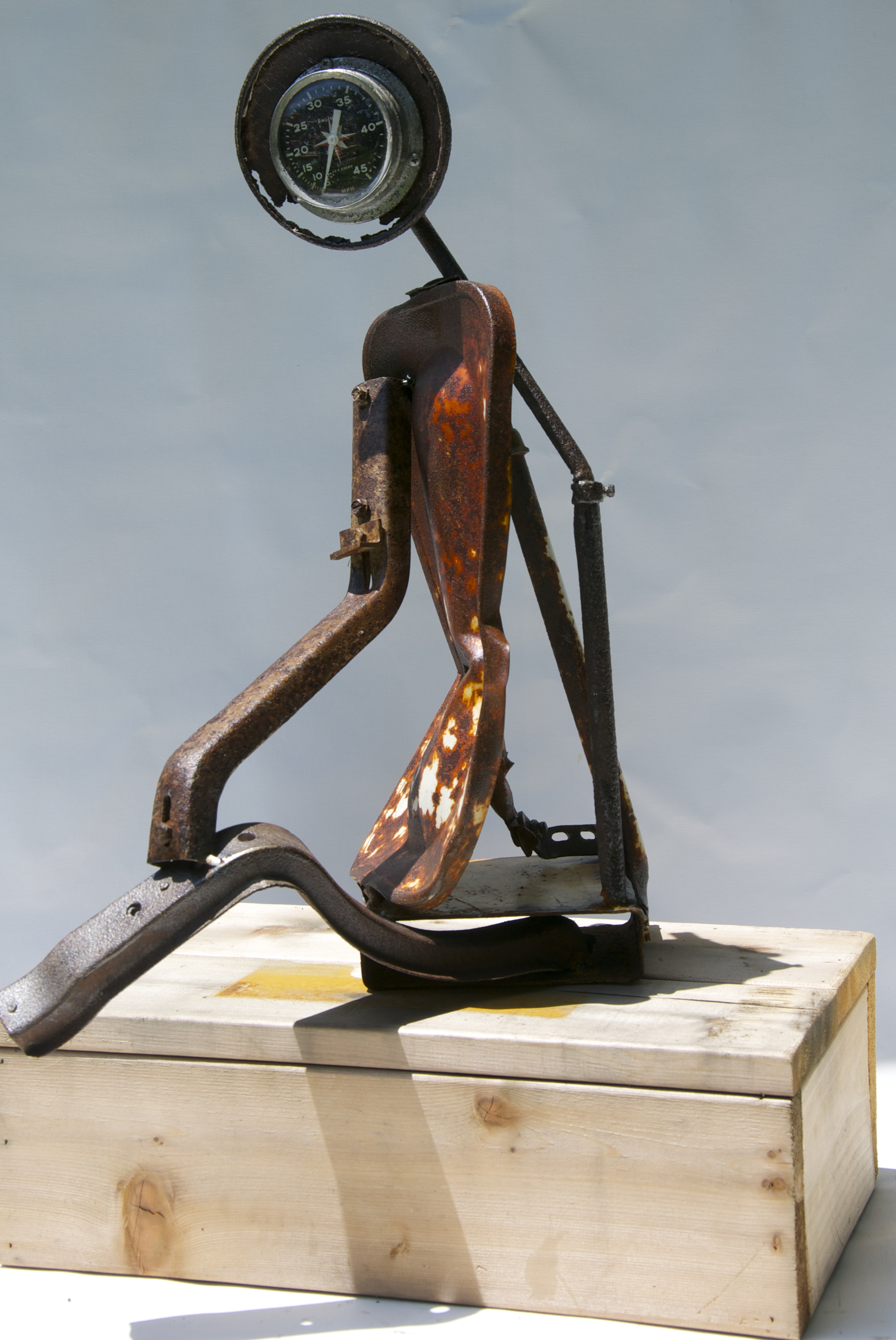 """""""Girl in the Side View Mirror"""" Sculpture  -SOLD-"""