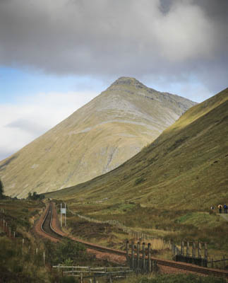 The West Highland Way north of Tyndrum, route of The Devil o' the Highlands