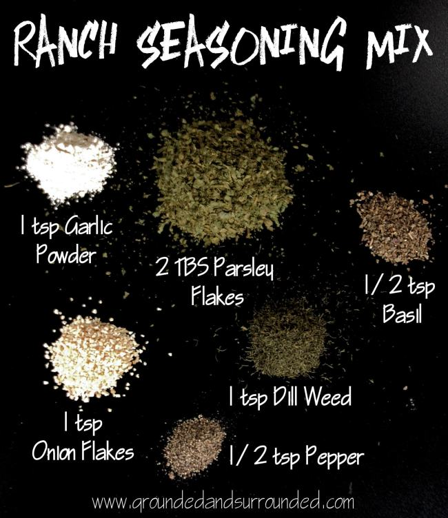 This simple recipe can completely replace the ranch seasoning mix packets you buy at the store. They are insanely expensive. Am I right?! Not to mention the weird unknown ingredients so this version is a fantastic alternative! I usually double the recipe and keep a jar of it in my pantry to use in several of my favorite crock pot creations. groundedandsurrounded.com