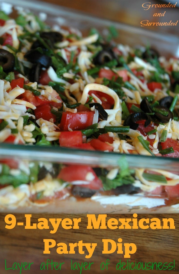 Need an easy, healthy and fun dish to take to your next potluck or party? This taco dip does not disappoint with it's fresh and bold flavors. Who doesn't love layers of fresh ingredients piled high? You may have made a dip similar to this in the past, but have you used layers of freshly sliced avocados or Greek yogurt? The fresh ingredients in this dip are really what make it shine. https://www.groundedandsurrounded.com/recipe/9-layer-mexican-dip/