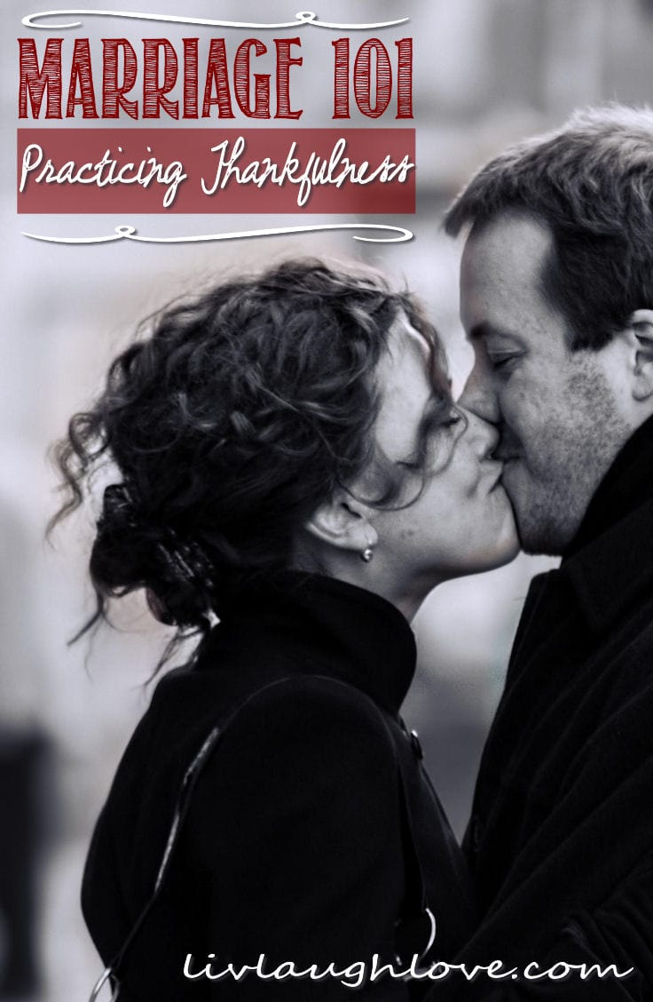 It is so easy to focus on all of the things my spouse does wrong. Find out how we can all learn thankfulness for our significant other despite our short-comings. https://www.groundedandsurrounded.com/marriage-practicing-thankfulness-lll/