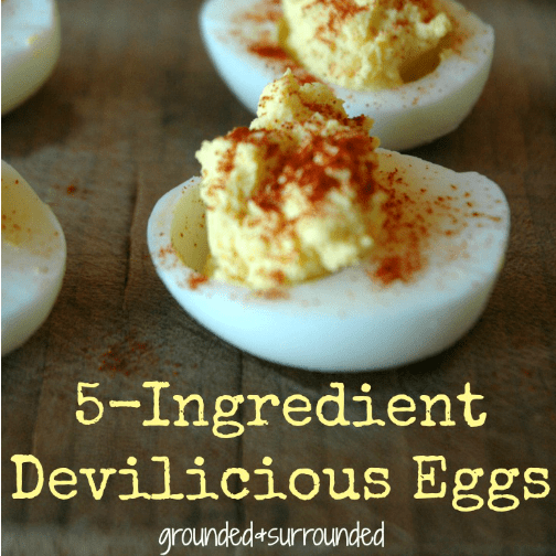 There is just something about a deviled egg, isn't there? I love how frugal and simple this recipe is, it has truly become a go-to for me when I am asked to bring party food. It is healthy, gluten free, and packed with protein. Winner-Winner-Chicken-Dinner! https://www.groundedandsurrounded.com/recipe/5-ingredient-deviledeggs/