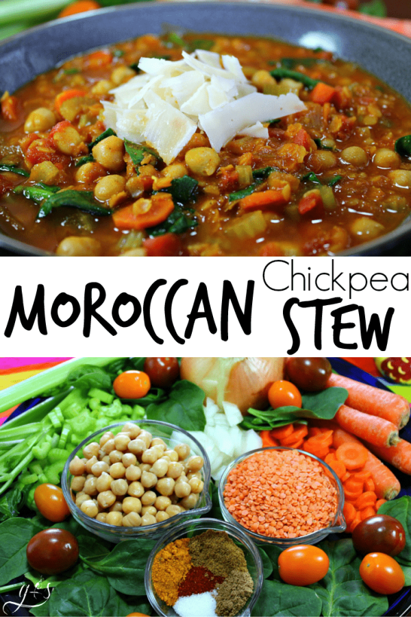 Vegetarian moroccan chickpea stew grounded surrounded this quick vegetarian dinner recipe is full of bold and unique flavors perfect for a forumfinder Images