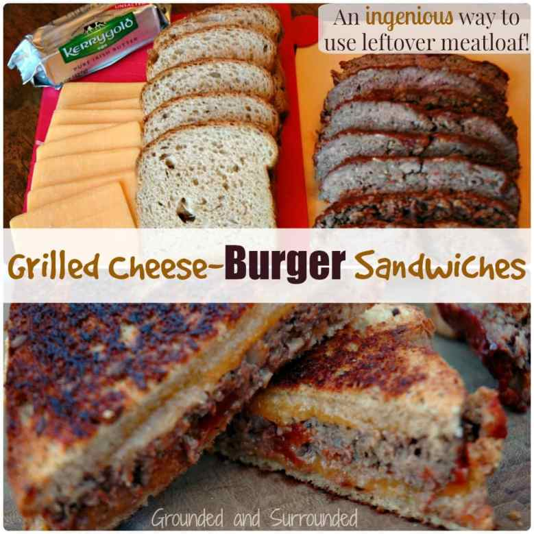 What do you do with leftover meatloaf? Want to roll it over into something completely new? Well we have the recipe for you! This moist, flavor-packed, and hearty meal will leave you speechless and wondering why you had never thought of this yourself! Is it grilled cheese? Is it a cheeseburger? Nope! It's even better! https://www.groundedandsurrounded.com/recipe/grilled-cheese-burger-sandwiches/