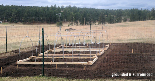 My husband built me 3 hoop houses out of 2x4's and pvc pipe last year. We are hoping to build some season-extending low tunnels this season. This is such a versatile product to use in your garden, and SO CHEAP! https://www.groundedandsurrounded.com/frugal-diy-garden-articles/
