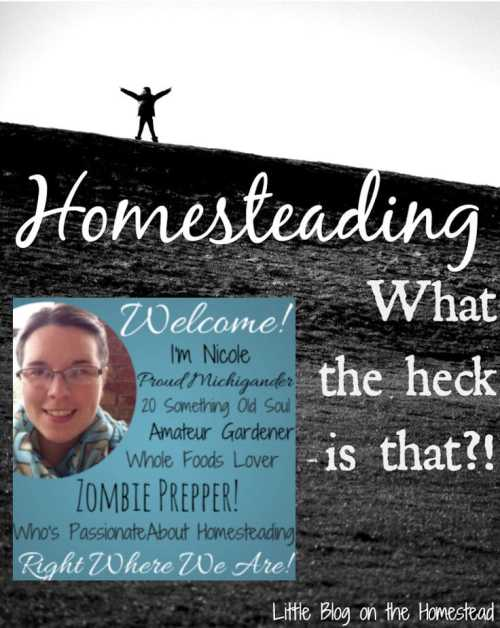 My name is Nicole and I started this blog with a desire to share our suburban homestead lifestyle with you all. I hope to provide a safe place for people to learn from my mistakes and triumphs and share in the every day joys of life. We are a family that believes in whole, delicious, real food. Essential oils. Home gardens and canning. And prepping for the zombie apocalypse!