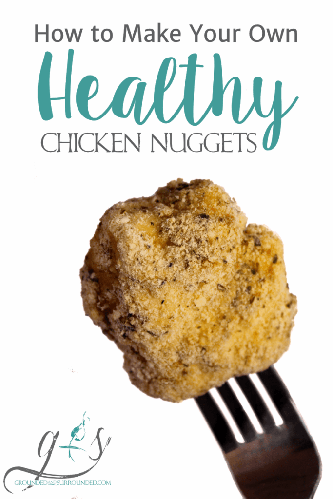 "Learn how to make your own healthy baked chicken nuggets with the girls at Grounded and Surrounded! This easy meal is homemade, gluten-free, simple to prepare, and taste amazing! Totally kid-friendly and perfect for the ""big"" kids as well! ;) https://www.groundedandsurrounded.com/recipe/healthy-homemade-chicken-nuggets/"