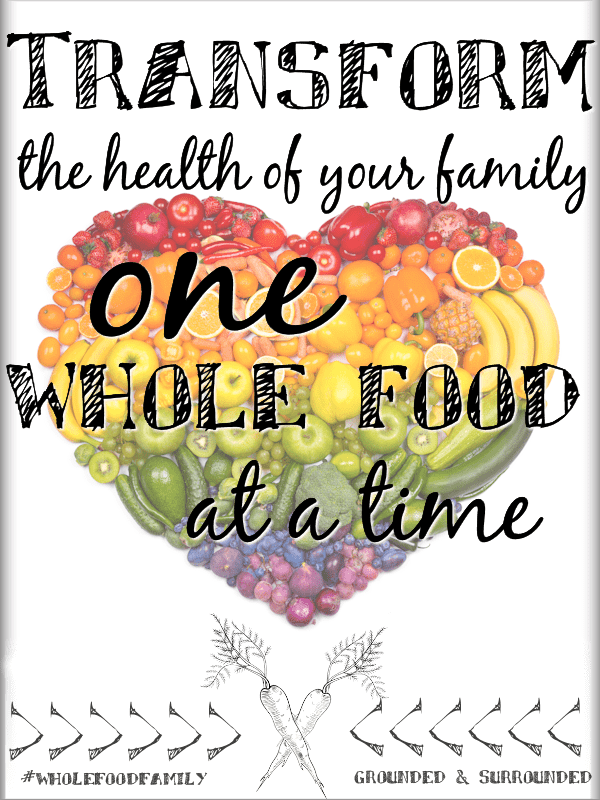 "THE ""WHOLE FOOD FAMILY"" SERIES + 5 Reasons Everyone should EAT MORE WHOLE FOOD It is so tempting to take shortcuts when it comes to feeding our families whole food recipes, and for some reason we tell ourselves it's no big deal! What if we could all find a way to feed our families one more whole food per meal? We'll show you how to get more in your diet including meal ideas for dinner, snacks, breakfast, salads, and desserts!"