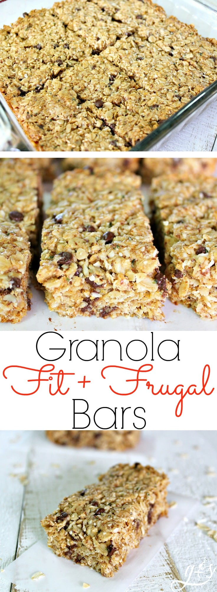 These Fit & Frugal Granola Bars are made with healthy gluten free ingredients to create chewy granola bars you feel good about feeding your kids. This homemade recipe is a perfect snack or addition to any school lunch. They are packed with superfoods like ground flax seeds, hemp seeds and coconut! But any add-ins will work! We never skip the chocolate chips but the possibilities are endless. Look no further, you have found the BEST granola bar recipe on Pinterest!