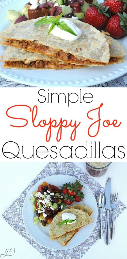 These fun and simple Sloppy Joe Quesadillas are the perfect family meal idea! It's easy to have healthy and kid-friendly meals with recipes like this! These are simply the best homemade and quick quesadillas out there. Use your leftover sloppy joe mixture and add shredded cheese and tortillas to the party! Try our Whole Food Makeovers: Sloppy Joes in this recipe to add more vegetables to your diet and stretch your meat further if you are on a budget.
