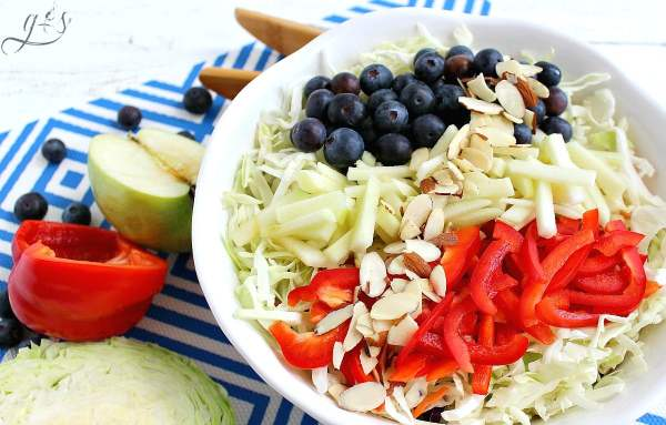 RED, WHITE & BLUE Slaw Salad red white and blue salads