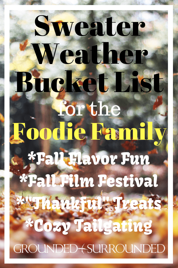 Sweater Weather Bucket List for the Foodie Family | Fall is the perfect season to spend time together as a family in the kitchen, watching movies, creating gifts for neighbors and friends, and doing some cozy tailgating. Pumpkin, cinnamon, sweet and savory, and everything in between are the perfect food flavors to enjoy this autumn. Find all your fall party, DIY decoration ideas, and recipes in this fun post!
