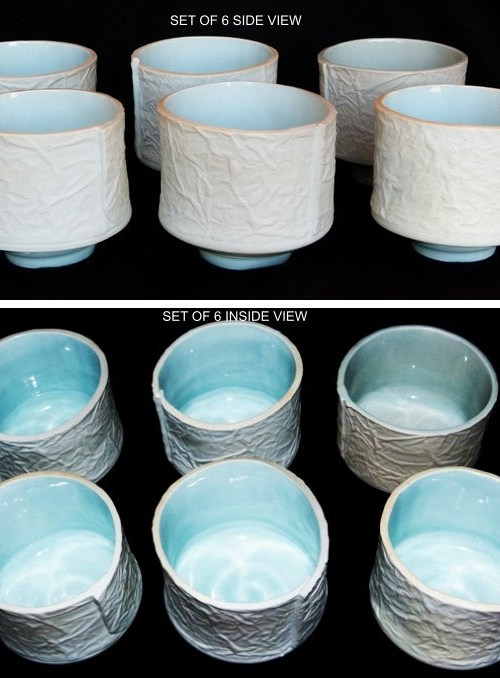 Tea Bowl, Washi Paper - Set of 6