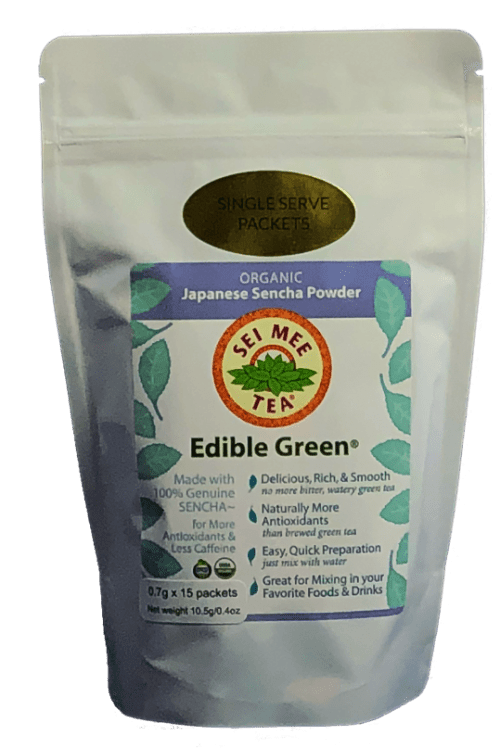 Edible Green Single Serving Packets front