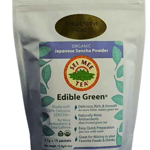 Edible Green Sencha Powder single serving packets