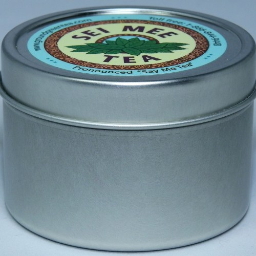 Edible Green Storage Tin with a measuring spoon