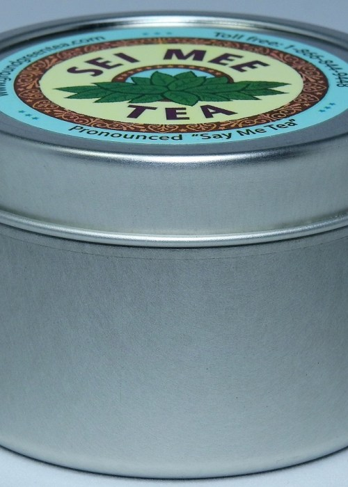 Edible Green Tea Storage Tin with a measuring spoon