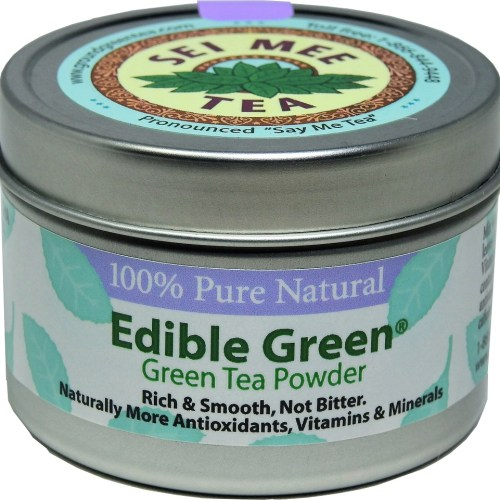 Edible Green Sencha Powder 40 cups in storage can