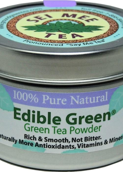 Edible Green Sencha Powder 40 cups in storage can