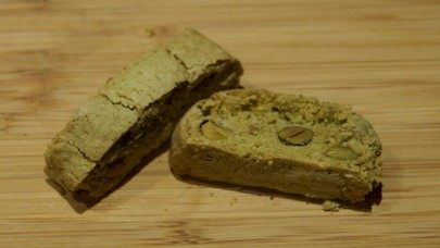 Gluten Free Biscotti made with Matcha