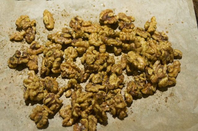 Spiced Matcha Candied Walnuts