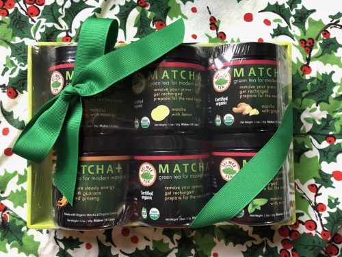 green tea holiday gift set (green)