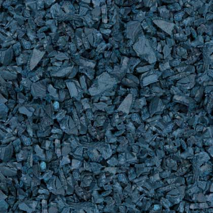 Blue Rubber Mulch Color Example Swatch