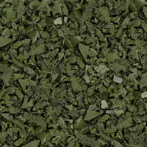 Green Rubber Mulch colors example swatch