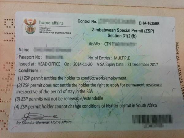 Photo of permit