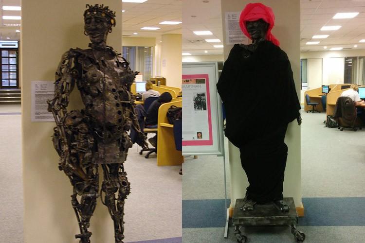 Photos of Saartjie Baartman sculpture, before and after