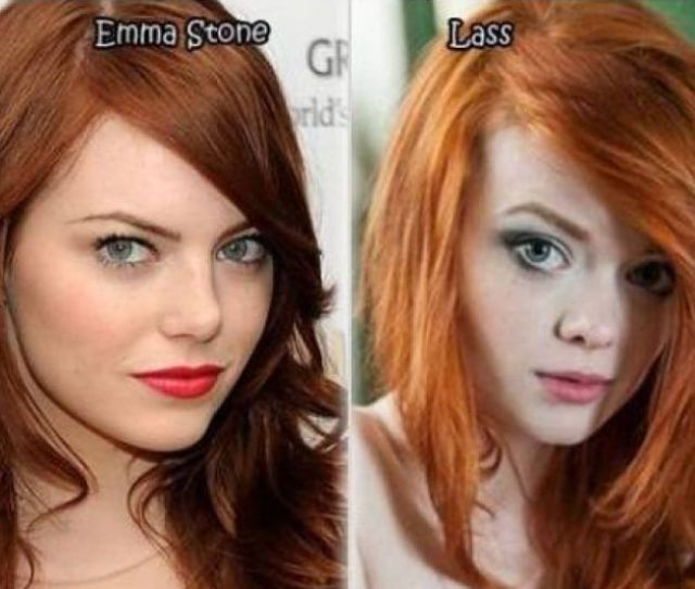 Celebrities Look Alike Porn Stars Emma Stone