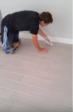 color of your porcelain wood tile grout