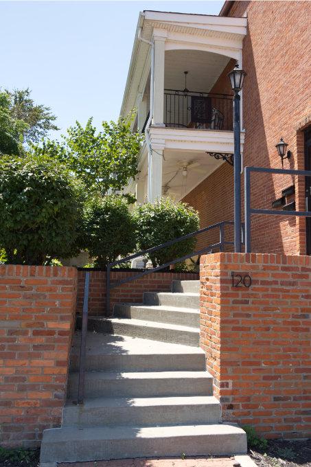 Washington, MO modern historic home stairway
