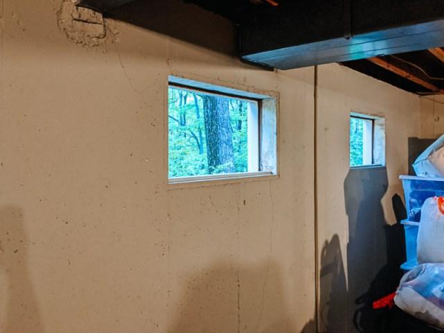 Old single pane hopper windows removed