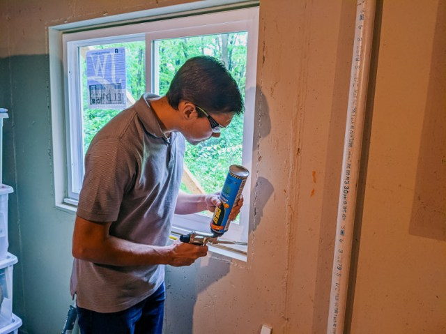 Great Stuff expanding insulation foam for doors and windows