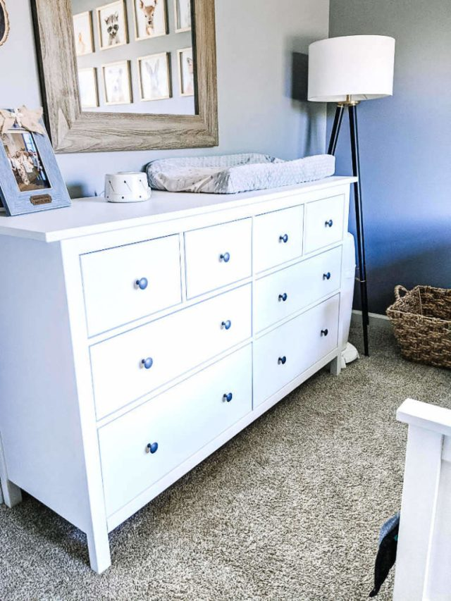 IKEA Hemnes dresser as changing table and convertible to toddler room