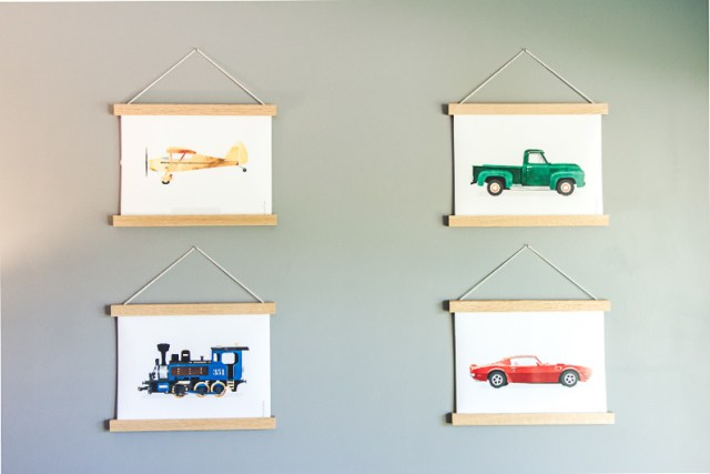 Transportation themed wall art from MORILAND