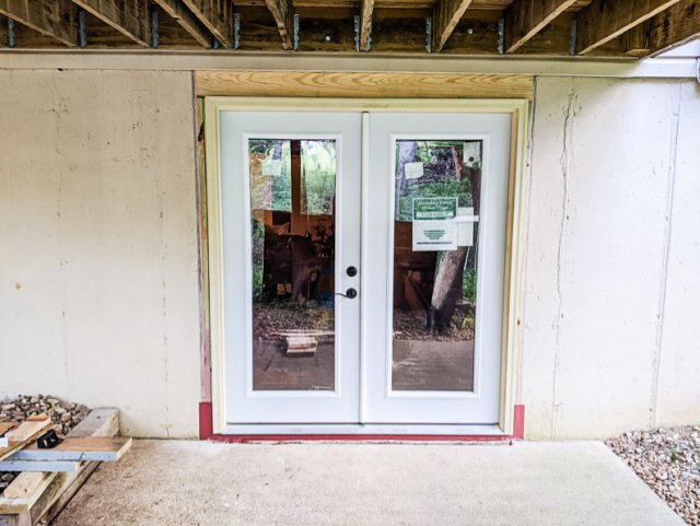 New Mastercraft Menards french patio door walkout basement