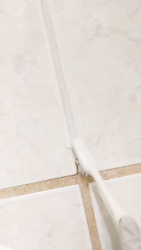 Grout Renew stained grout refresh DIY application