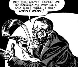 Jack Kirby in The Mammoth Book of Best Crime Comics