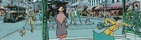 A street scene from Miss Don't Touch Me