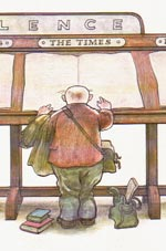 When the Wind Blows - Jim reads The Times at the library