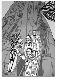Soyuz Blue - astronauts