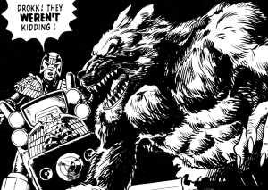 Dredd meets a werewolf