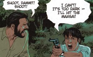 Kenya - Miss Austin with a revolver